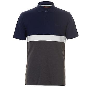 Pierre Cardin menns Polo skjorte klassisk passer Tee topp kort erme bomull-knappen