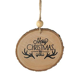 Heaven Sends Wooden Bark Christmas Tree Decoration