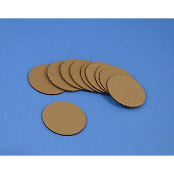 10 Brown Craft Foam Circles for Sunflower Centres | Childrens Craft Foam