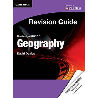 Cambridge IGCSE Geography Revision Guide Student's Book by David Davi