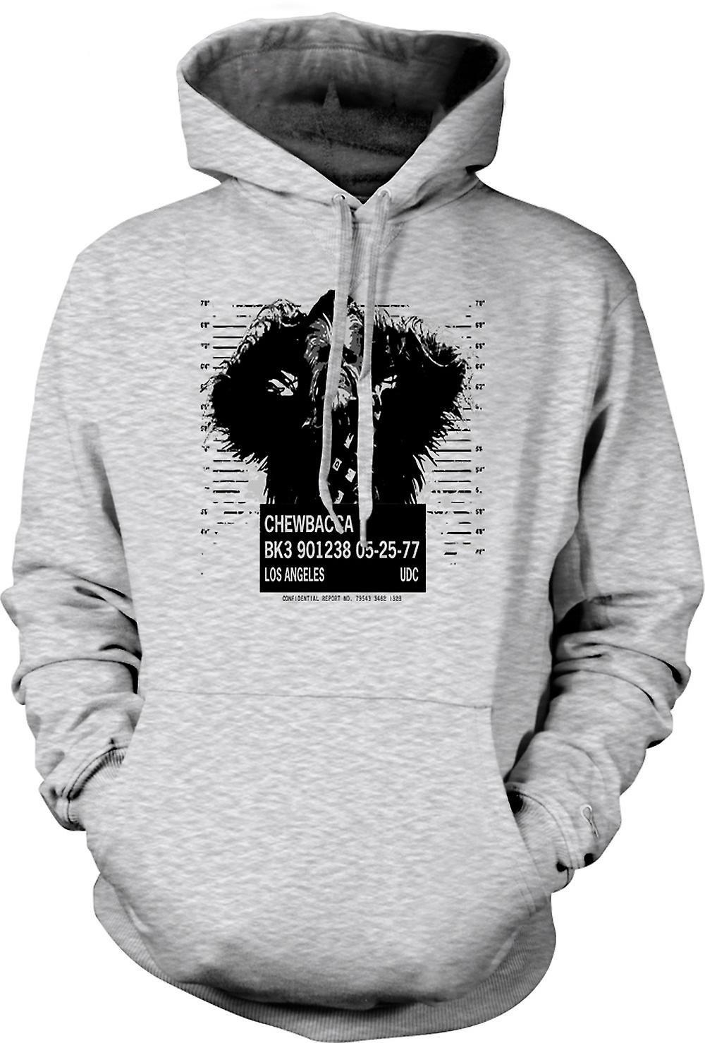 Mens Hoodie - Chewbacca Mug Shot - Star Wars