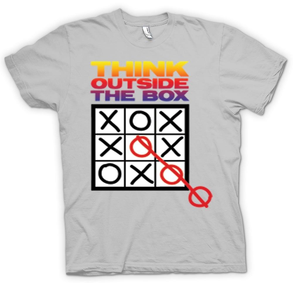 Mens T-shirt - Think Outside The Box Tic Tac Toe