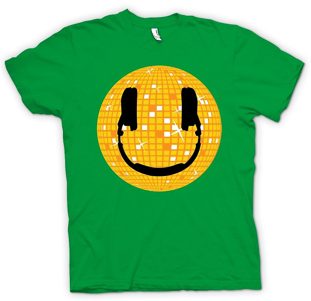 Mens t-shirt - Smiley Face - palla da discoteca