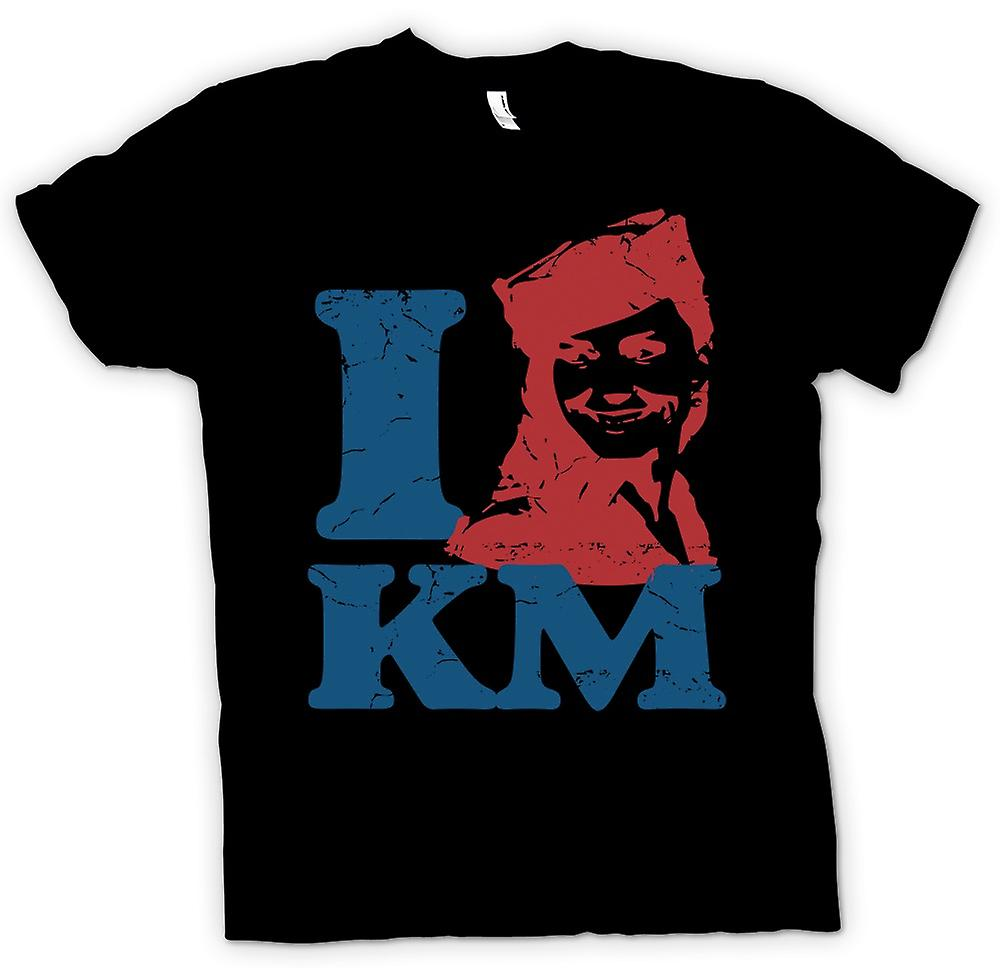 Womens T-shirt - I Love KM - Kate Middleton
