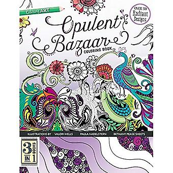 Opulent Bazaar Coloring Book: 3 Books in 1 (Colouring Books)