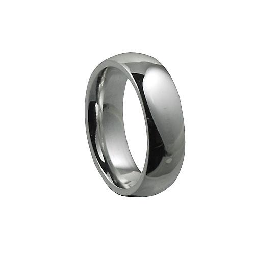 9ct White Gold 6mm plain Court shaped Wedding Ring