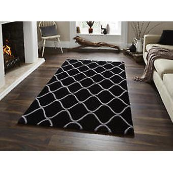 Éléments El65 tapis noir Rectangle tapis Plain/presque ordinaire