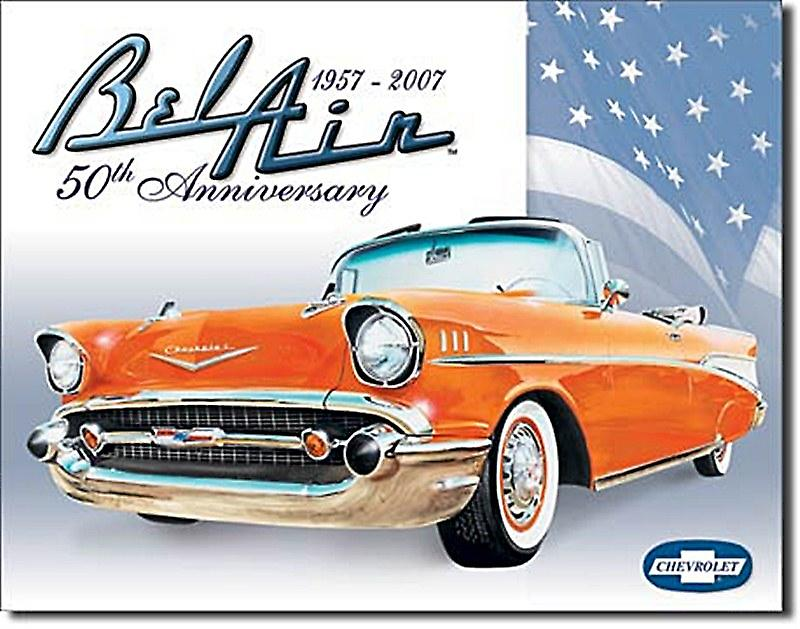 Chevrolet BelAir 50th Anniversary metal sign   (de)
