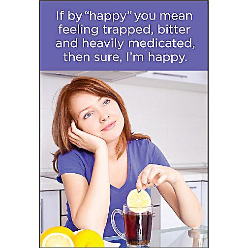 If By Happy You Mean Feeling Trapped... funny fridge magnet  (ep)