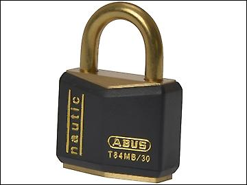 ABUS T84MB/30 30mm Black Rustproof Padlock Carded