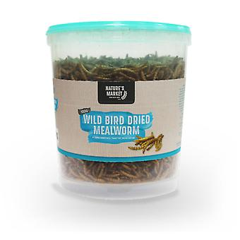 Natures Market 100g Tub of Dried Meal Worm Feed Wild Bird Mealworm Food