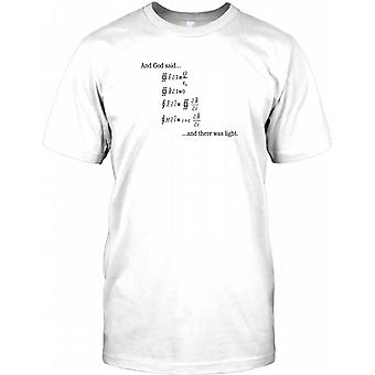 Gud ligning - Cool fysik Herre T-shirt