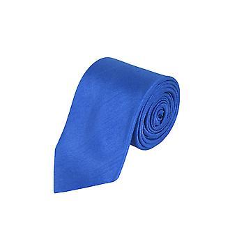 Dobell Mens Royal Blue Tie Dupion Satin-Feel Work/Wedding