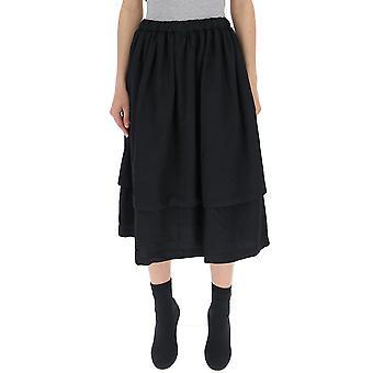 Comme Des Garçons Black Polyester Skirt