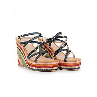 Paul Smith Leia Striped Wedge Espadrilles