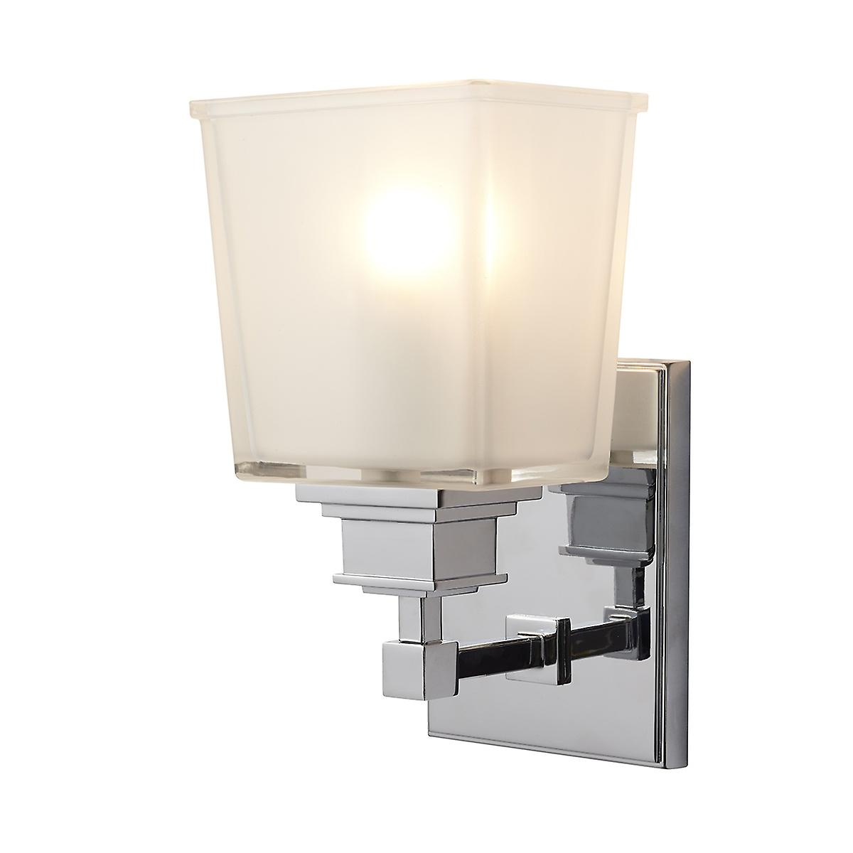 Elstead BATH/AY1 Aylesbury Modern Bathroom Wall Light with a Rectangle Design