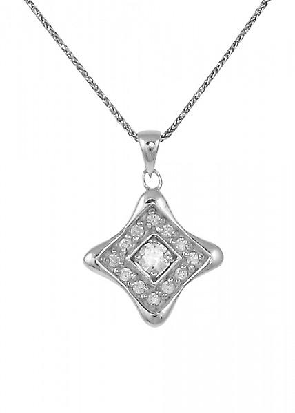 Cavendish French Silver and CZ diamond shaped pendant
