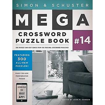 Simon & Schuster Mega Crossword Puzzle Book #14 by John M Samson - 97