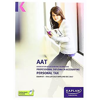 AAT Personal Tax FA2016 - Exam Kit by Kaplan Publishing - 97817841560