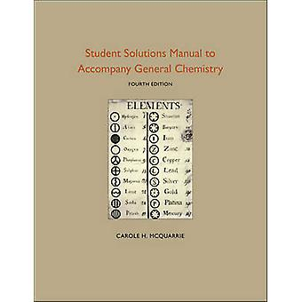 Student Solutions Manual to Accompany General Chemistry (4th New edit