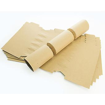 12 Natural Brown Recycled Kraft Make & Fill Your Own Crackers