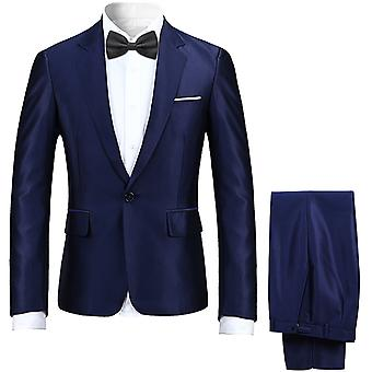 Allthemen Men's High-end Suit 2-pieces Suit One Button Classic Casual&Formal Wedding Suits Blazer&Trousers