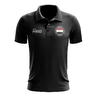 Egypten fotboll Piké tröja (svart)