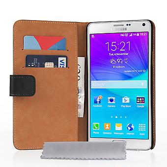 Caseflex Samsung Galaxy Note 5 Real Leather Wallet Case Black