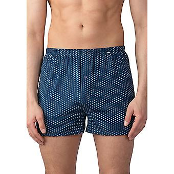 Mey Men 33522-668 Men's Point Yacht Blue Spotted Cotton Loose Boxer