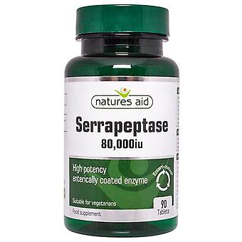 Nature's Aid Serrapeptase 80;000iu (Entero-Coated) Tablets 90