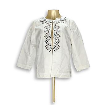 Joan Rivers Classics Collection Women's Embellished White A268142