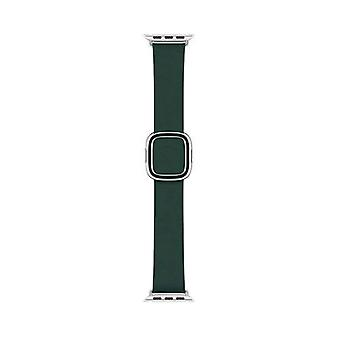 Apple 40mm modern leather strap m size green