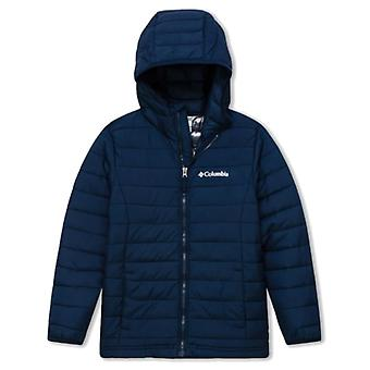 Columbia Powder Lite Boys Junior Kapuzenjacke | Collegiate Navy