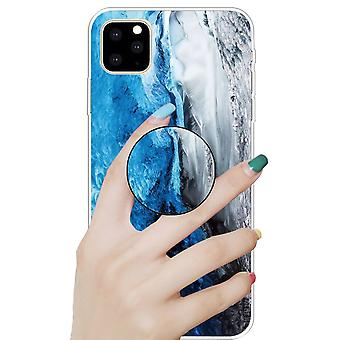 Schutzhülle Cover für Apple iPhone 11 6.1 Zoll Dark Blue 3D Marble TPU Silikon Tasche Etui
