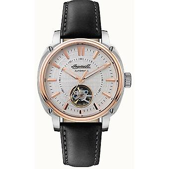 Ingersoll The Director Automatic White Dial Black Leather Strap Mens Watch I08101