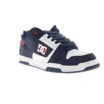 DC Stag  Mens Blue Nubuck & Canvas Athletic Lace Up Skate Shoes