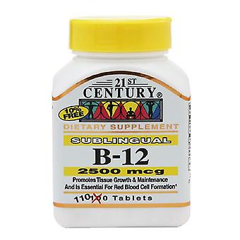 21st century sublingual b-12 2500 mcg, tablets, 110 ea