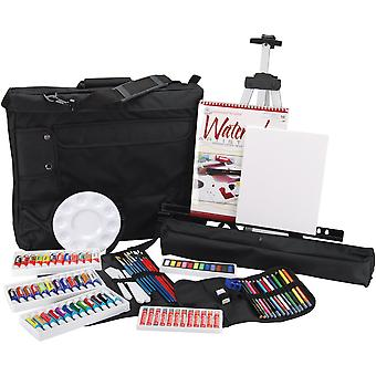 Travel Artist Set With Easy To Store & Carry Bag All Media Fa202
