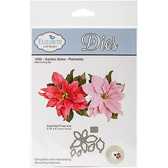 Elizabeth Craft Metal Die-Garden Notes Poinsettia EC1090