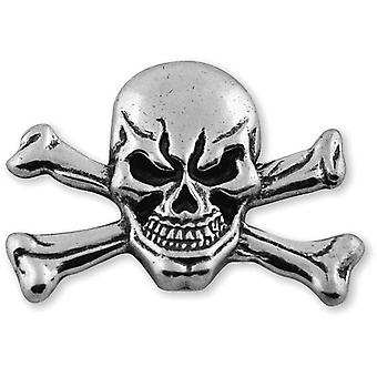 Skull & Crossbones Concho Antique Silver 1.5