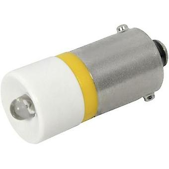 LED bulb BAU15s Yellow 24 Vdc, 24 Vac 900 mcd CML