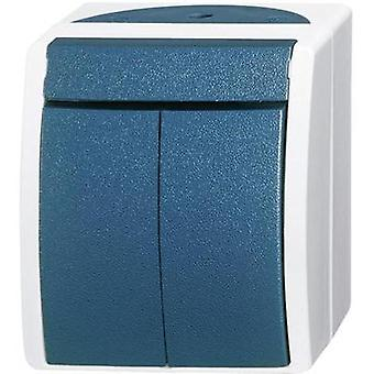 Busch-Jaeger Series switch Ocean (surface-mount) Blue-green 2601/5 W-53