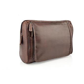 Woodland læder store Washbag