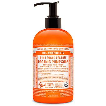 Dr Bronner's Organic Tea Tree Soap Pump 355ml (Mannen , Scheren , Pre-scheren)