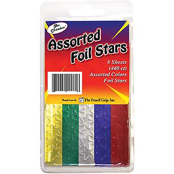 Foil Star Stickers 440/Pkg-Assorted TPG-46-1