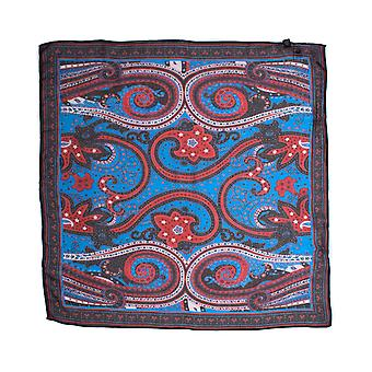 Pretty Green Cambridge Red & Black Paisley Square Scarf