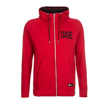 2016-2017 Eintracht Frankfurt Nike authentiek Full Zip Hoody (rood)