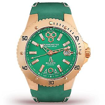 Green & Rose Gold Alessandro Baldieri Seamonster Watch