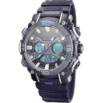 Quartz Outdoor watch YP12598-02 (Ø x H) 52 mm x 18 mm Blue Enclosure material=ABS plastic Material (watch strap)=PU plas