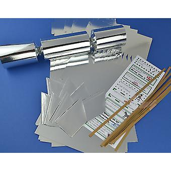8 Jumbo Silver Foil Make & Fill Your Own Cracker Making Craft Kit